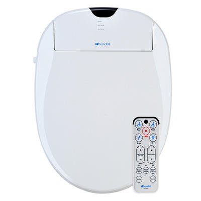Brondell Swash 1000 Bidet Elongated Toilet Seat - White