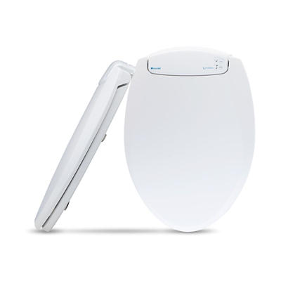 Brondell LumaWarm Heated Nightlight Round Toilet Seat - White