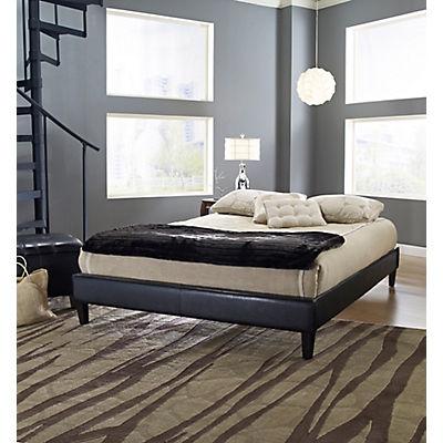 Contour Rest Blaine Full-Size Simulated Leather Platform Bed Frame - B