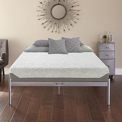 Contour Rest Garner Queen-Size Metal Platform Bed Frame - Silver