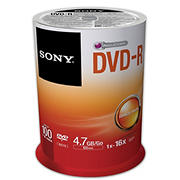 Sony DVD-R Blank Discs, 100 pk.