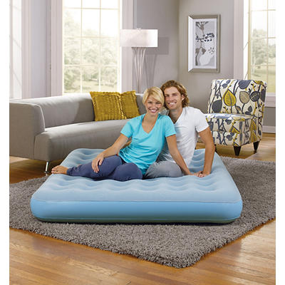 Simmons Beautyrest Smart Aire Queen-Size Comfort Top Instant Airbed - Light Blue