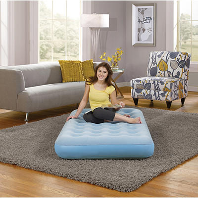 Simmons Beautyrest Smart Aire Twin Comfort Top Instant Airbed - Light Blue