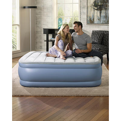 Simmons Beautyrest Hi Loft Queen-Size Raised Airbed - Light Blue