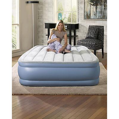Simmons Beautyrest Hi Loft Full-Size Raised Airbed - Light Blue