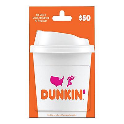 $50 Dunkin Donuts Gift Card