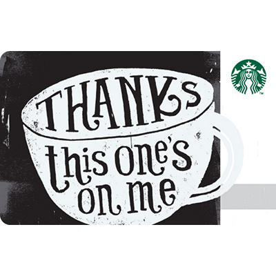 $10 Starbucks Thank You Gift Card, 5 pk.