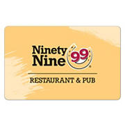 $15 Ninety Nine Restaurant Gift Card, 3 pk.