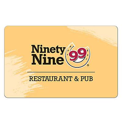 $15 Ninety Nine Restaurant Gift Card, 3 pk.