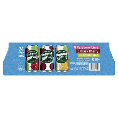 Poland Spring Flavored Sparkling Water, 24 pk./12 oz.