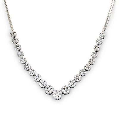 2.00 Carat Diamond Necklace in 14K White Gold