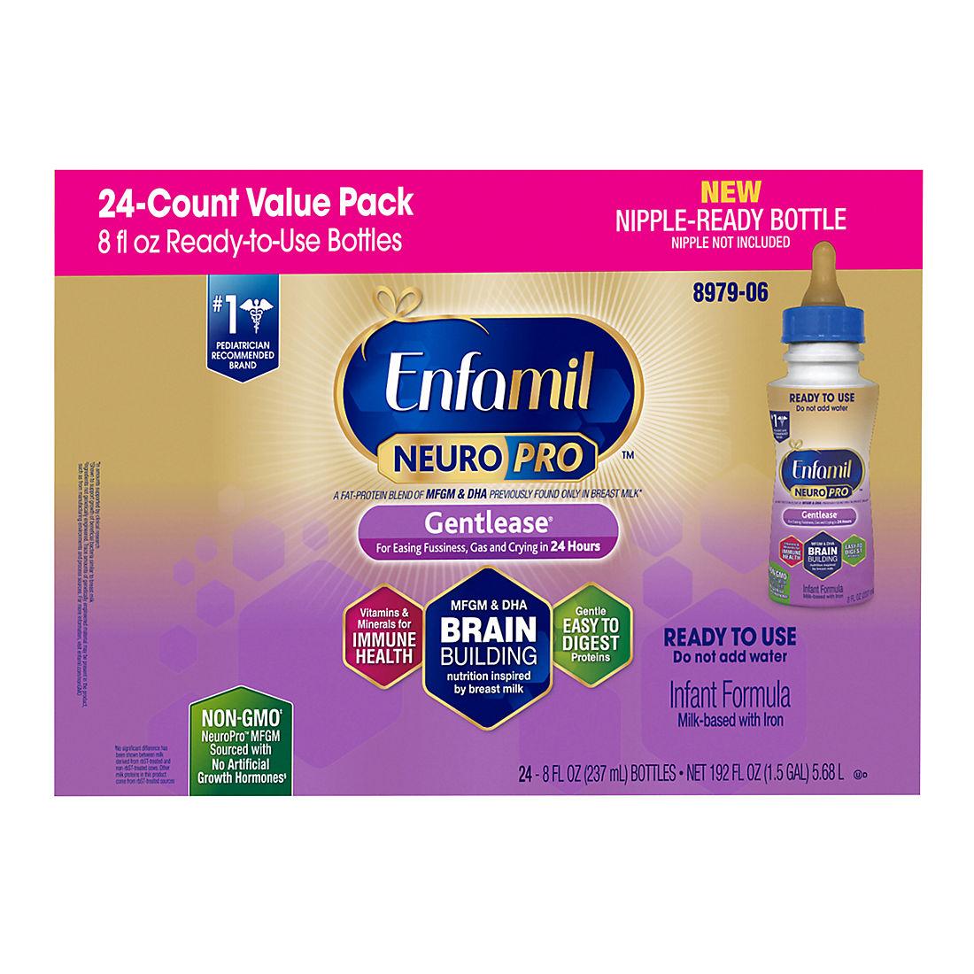 Enfamil Gentlease Infant Formula, 24 ct /8 fl  oz