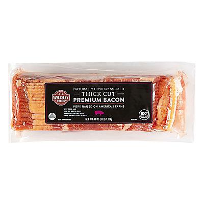 Wellsley Farms Thick-Sliced Bacon, 2 pk./28 oz.