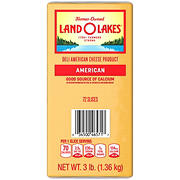 Land O'Lakes Sliced Yellow American Premium Deli Cheese, 3 lbs.