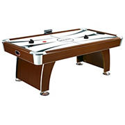 Carmelli Brentwood 7.5' Air Hockey Table with Electronic Scoring - Cherry