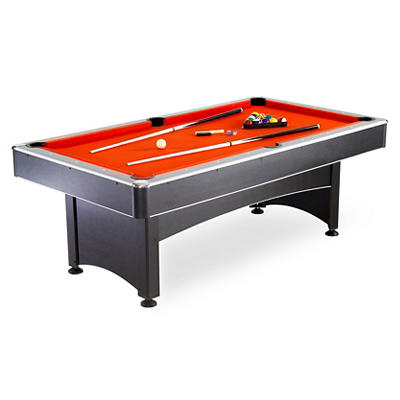 Carmelli Maverick 7' Pool Table with Table Tennis - Black/Red/Blue