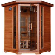 Radiant 3-Person Cedar Infrared Corner Sauna with 7 Carbon Heaters