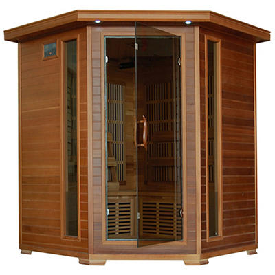 Radiant 4-Person Cedar Infrared Corner Sauna