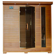Radiant 6-Person Cedar Infrared Sauna with 10 Carbon Heaters