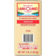 Land O'Lakes Sliced White American Premium Deli Cheese, 3 lbs.