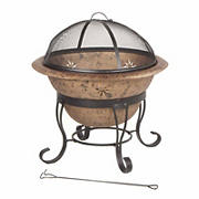 "Deckmate Soleil 29"" Steel Fire Bowl - Antique Copper"