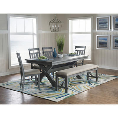 Powell Turino 6-Pc. Dining Set - Gray