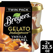 Breyers Gelato Vanilla Caramel, Twin Pack/28.5 oz.