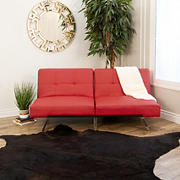 Abbyson Living Milano Convertible Sofa - Red