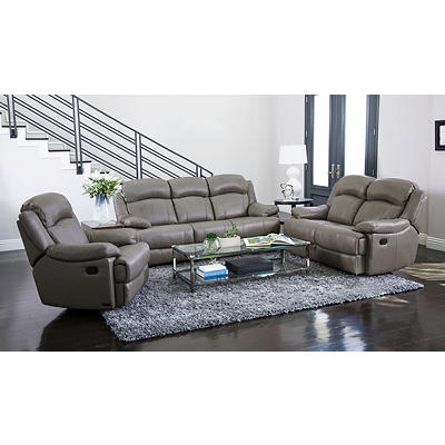 Abbyson Living Clark 3-Pc. Reclining Set - Gray