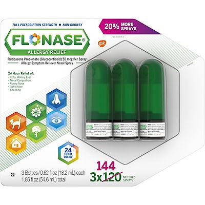 Flonase Allergy Symptom Relief Nose Spray, 3 pk./0.54 fl. oz.