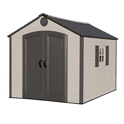 Lifetime 8' x 10' Outdoor Storage Shed - Brown/Tan