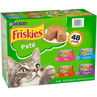 Purina Friskies Classic Pate Cat Food Variety Pack, 48 pk./5.5 oz.