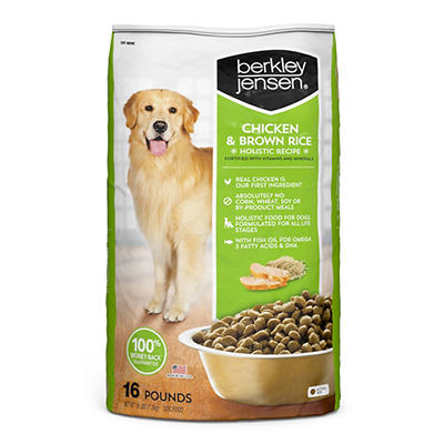 Berkley Jensen All Natural Chicken and Brown Rice Holistic Recipe Dog