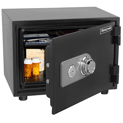 Honeywell 0.58-Cu.-Ft.Water- and Fire-Resistant Safe with Spy-Proof Co