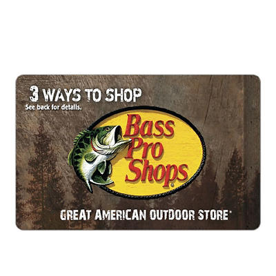 $25 Bass Pro Shop Gift Card, 3 pk.