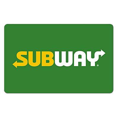 Subway $10 Gift Card, 3 pk.