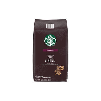 Starbucks Caffe Verona Dark Roast Ground Coffee, 40 oz.