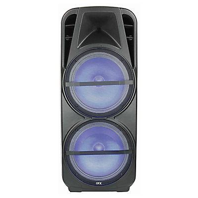 """QFX 32155 15"""" Rechargeable Bluetooth Speaker Bundle, 2 pk."""