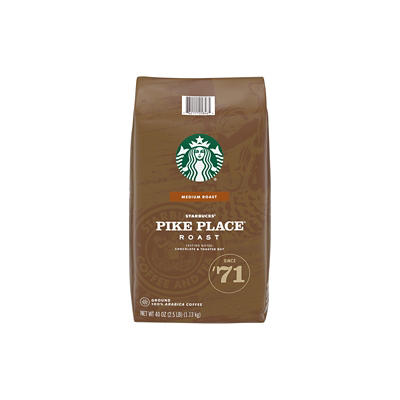 Starbucks Pike Place Medium Roast Ground Coffee, 40 oz.