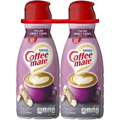 Coffee-mate Liquid Italian Sweet Cream Non-dairy Creamer, 2 pk./32 fl.