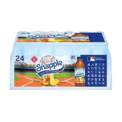 Snapple MLB Peach Tea & Lemonade Variety Pack, 24 pk./20 fl. oz.