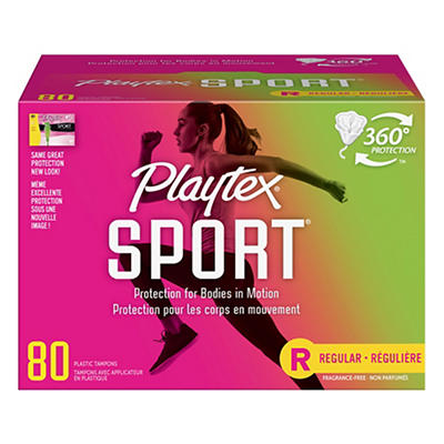 Playtex Sport Regular Tampons, 80 ct.