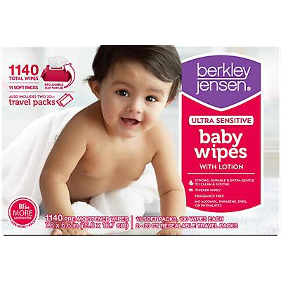 Berkley Jensen Ultra Sensitive Baby Wipes, 1,140 ct.