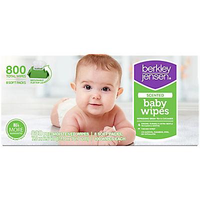 Berkley Jensen Green Tea & Cucumber Baby Wipes, 800 ct.
