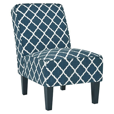 Handy Living Brodee Armless Chairs, 2 pk. - Navy Trellis