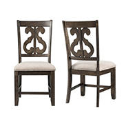 Picket House Furnishings Stanford Swirl Back Side Chair, 2 pk.