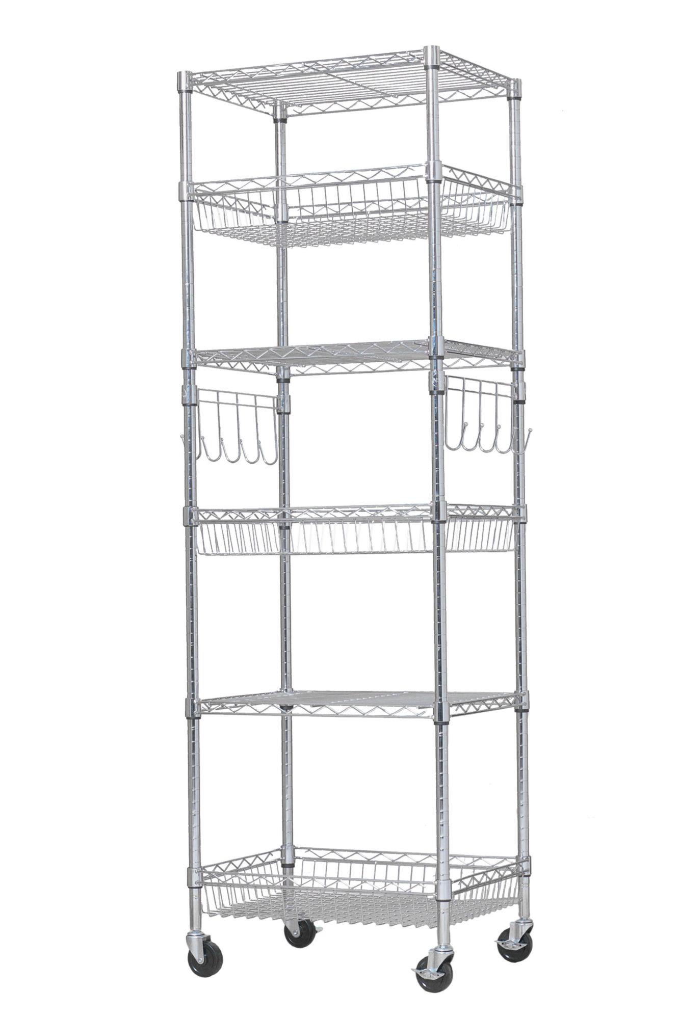 Berkley Jensen 24 6 Shelf Steel Rack Chrome