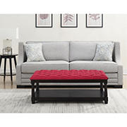 Picket House Furnishings Westfield Table Ottoman - Berry