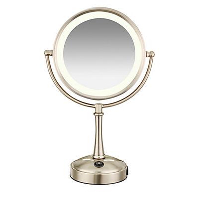 Conair Lighted 8x/1x Magnifying Mirror - Satin Nickel Finish