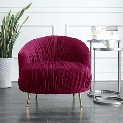 Picket House Furnishings Penelope Accent Chair - Cranberry